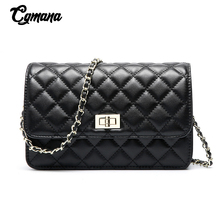 Fashion Brand Classic Chain Bags Diamond Lattice Cowhide Leather  Women Shoulder Bag Crossbody Bags For Women Messenger Bag foxer brand 2018 women s leather bag fashion crossbody bags for women chain bags girl shoulder bag gift for valentine s day