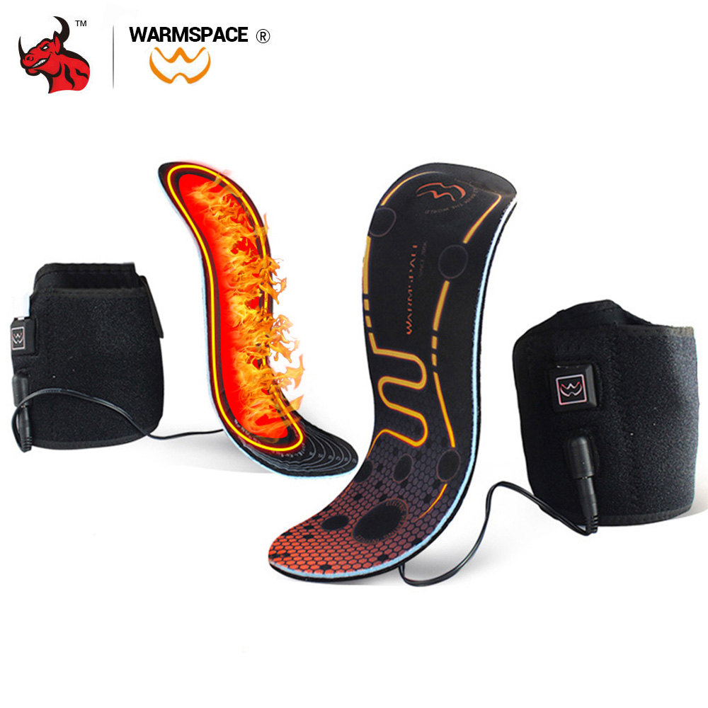 Motorcycle Boots Heated Insoles USB Lasting Thermal Winter Moto Motorcycle Shoes Electric Heating Insoles Keep Warm Unisex