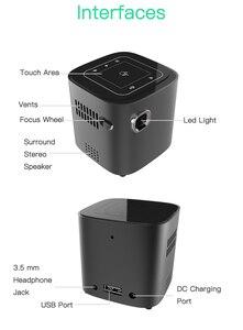 Image 5 - ALSTON S12 мини проектор HD 50ANSI lumens Удобный для переноски домашний проектор 1080P с батареей video beamer