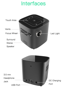 Image 5 - ALSTON S12 Mini HD projector 50ANSI lumens easy to carry home 1080P projector with battery video beamer