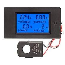 AC 4 in1 220V 80V ~ 260V 100A Einphasig Digitale Ampermeter Power Energie Voltmeter Amperemeter Volt watt Kwh Faktor Meter Split CT