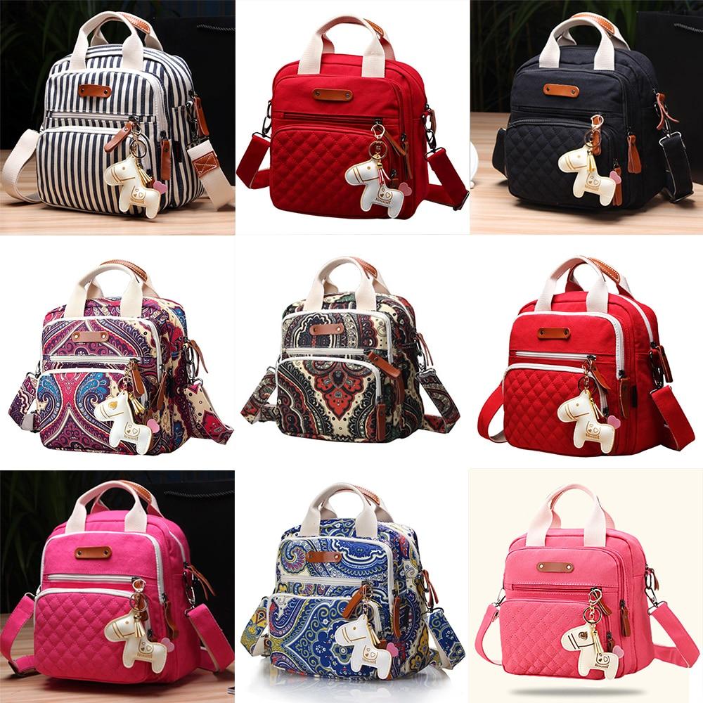 8 Colors Multi-Function Backpack Zebra Stripes Maternal Care Package Baby Stroller Children Shoulder Bag Diaper Bag Travel Bag
