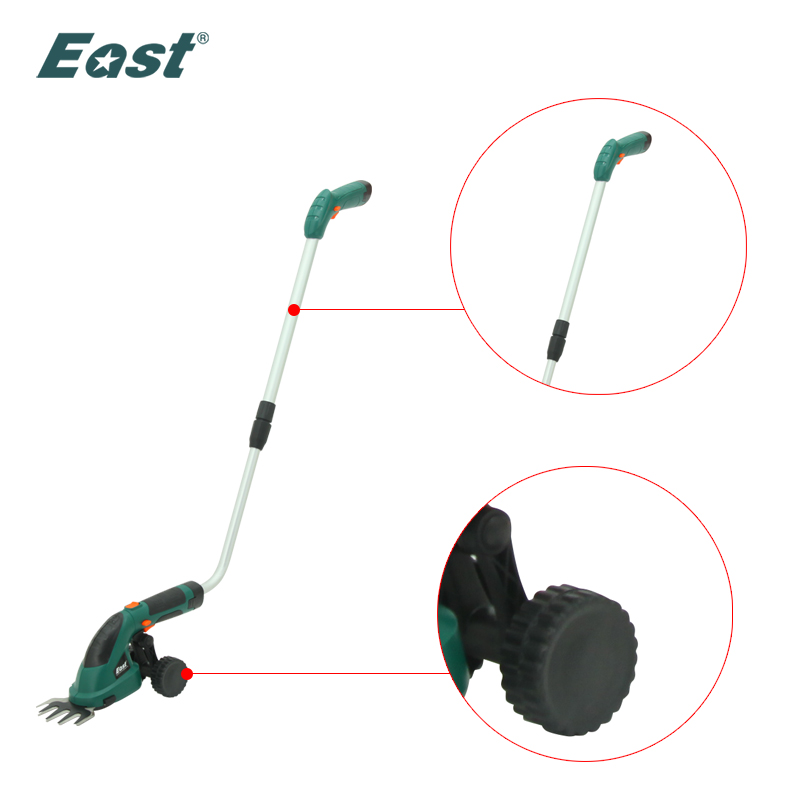East Spare Parts Pole and Wheels for ET1511C Garden Power Tools Green