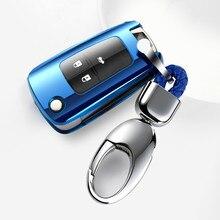 Grappige Nieuwe Soft Tpu Volledige Cover Auto Key Case Shell Voor Chevrolet Voor Cruze Aveo 2011 2012 Auto Flip Vouwen afstandsbediening Sleutel Accessoires