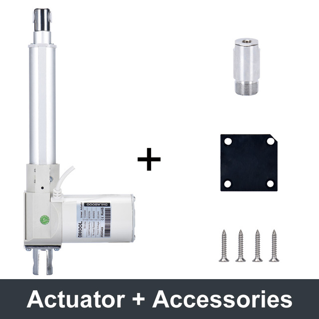 Dc 24v 75w motor controller electric linear actuator 8000n 3000n 150mm 350mm 850mm 1000mm stroke mechanical arm stainless tail