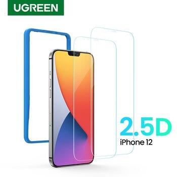 Protector de pantalla de teléfono UGREEN para iPhone 12 Pro Max 2.5D película protectora de pantalla de vidrio templado transparente para Apple iPhone 12 Max