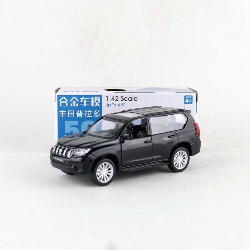 1:42 Scale/Diecast Toy Model/Toyota Land Cruiser Prado/SUV Sport Car/Educational Collection/Pull Back/Gift For Children