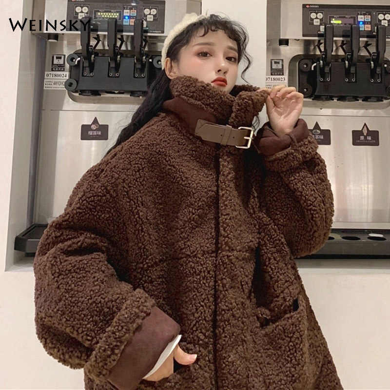 Casual Style Winter Women Faux Fur Thick Oversized Teddy Bear Coat 2019 Fashion Female Overcoat
