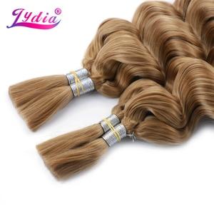 Image 2 - Lidia extensiones de cabello sintético para mujer, paquete de extensiones de cabello sintético de 18 a 24 pulgadas, sin trama, a granel, 2 unidades por paquete, color rubio esmerilado