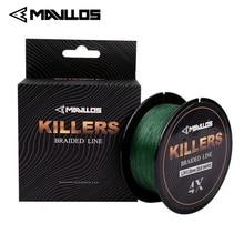 Fishing-Line Braided Super-Strong Mavllos Multifilament 4-Strands 150m 4-121lb Killers