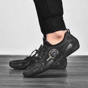 Image 5 - Valstone 정품 가죽 캐주얼 신발 남자 품질 남자 스 니 커 즈 드라이브 신발 탄성 레이스 업 슬립에 신발 자연 피부