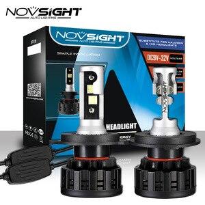 Image 1 - NOVSIGHT 6500K H4 LED H7 H11 H8 HB4 H1 H3 HB3 9005 9006 9007 H13 Auto Car Headlight Bulbs 60W 18000LM Car Styling led automotivo