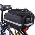 Велосипедная сумка  съемная переносная задняя стойка со светоотражающими полосками  холщовое седло  аксессуары для путешествий  водонепро...