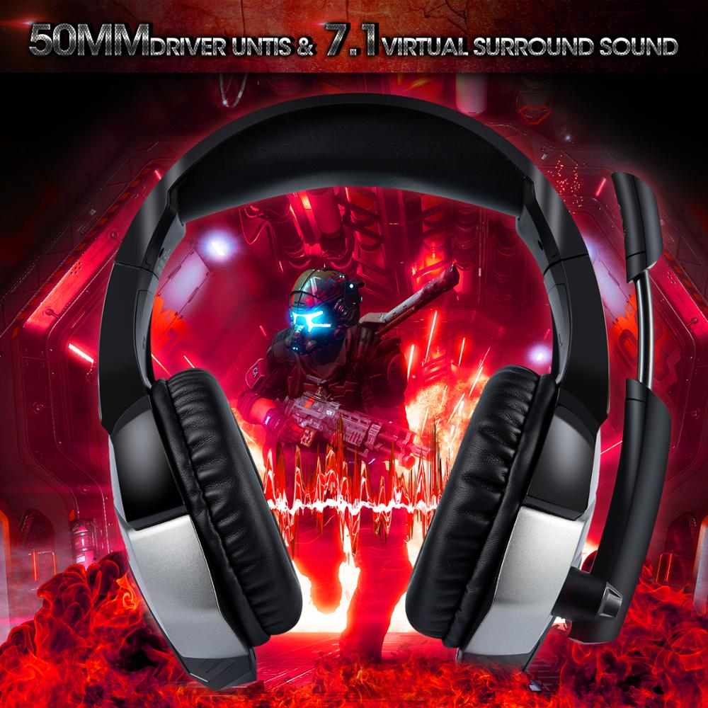 K5Pro gaming headset headset wired subwoofer <font><b>computer</b></font> professionelle gaming headset mit mikrofon für laptop Игровая гарнитура image