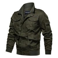 New Men Autumn winter military jacket cotton bomber jacket coat navy pilot jacket air force casual cargo jacket clothing outdoor