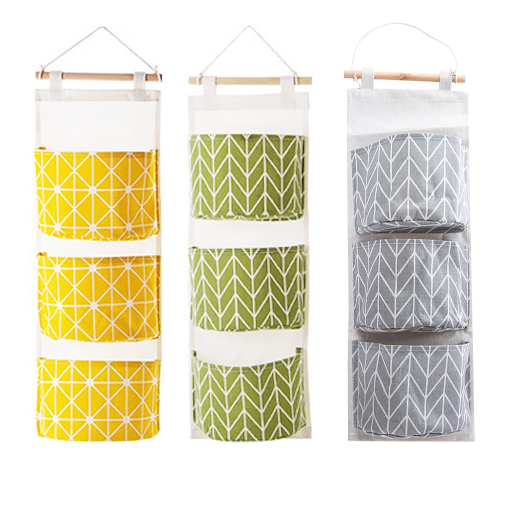 High Quality 1PC Wall Hanging Storage Bag Toys Bras Organizer Container Hanging Pocket Pouch Waterproof Moisture Proof 20CMX60CM