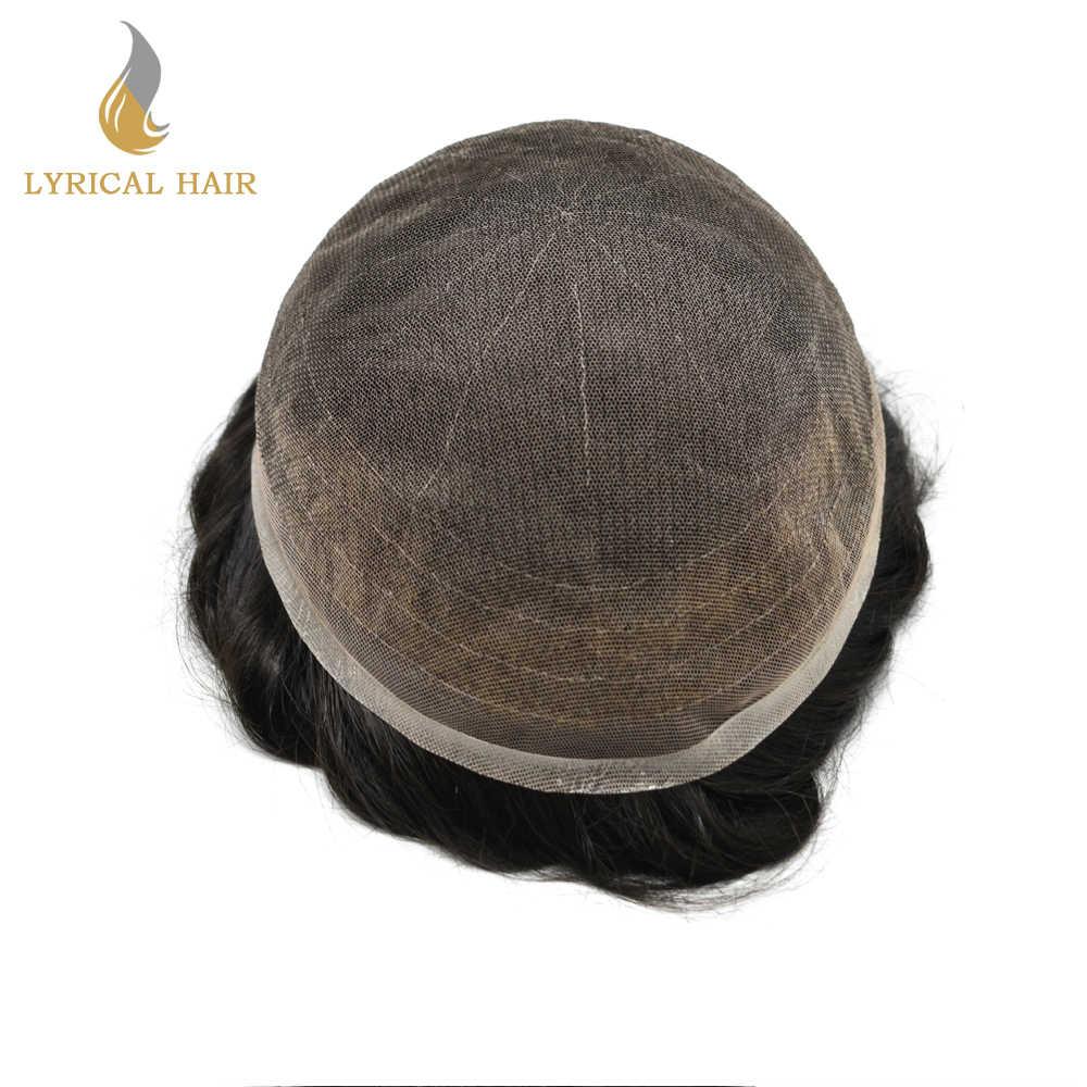 Voll Französisch Spitze Grau Haar System Transparente Spitze Herren Toupet Natürliche Haaransatz Haarteil Licht Dichte Alle Farben Ersatz