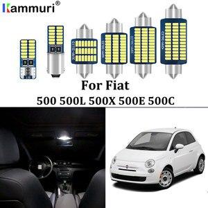 KAMMURI 100% Error Free Canbus LED Interior Light Package Kit for Fiat 500 500L 500X 500E 500C LED interior light (2007-2018)