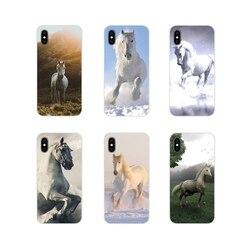Белые лошади для Xiaomi Mi4 Mi5 Mi5S Mi6 Mi A1 A2 A3 5X 6X 8 CC 9 T Lite SE Pro аксессуары чехлы для телефонов