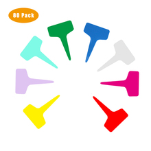 80Pcs IN PVC di Plastica Pianta Marcatore Pianta Lable Pianta Marcatori Per Il Giardino T a forma di Pianta Tag 10*6 centimetri Impermeabile Riutilizzabile