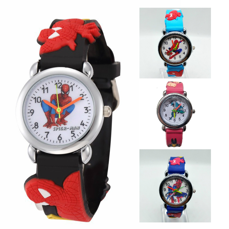 Children Spiderman Watch Simple Waterproof Kids Watches Batman Quartz Wristwatches For Girls Boys 2-12th Birthday Gift Clock #68