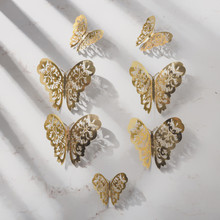 3D Butterfly Wall Decor Creative Wall Stickers For Kids Rooms 3D Hollow Wall Stickers Butterfly Fridge for Home Decoration New K high quality 3d colorful butterfly shape removeable wall stickers