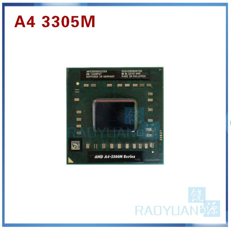 AMD A4-Series A4 3300M Series A4 3305M A4-3305M - AM3305DDX22GX 1.9Ghz Dual Core Laptop Processor Socket FS1