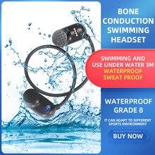 Lecteur MP3 à Conduction osseuse, 8 go/16 go/32 go, IPX8, étanche, natation, lecteur de musique Bluetooth, casque pour Sport de plein air