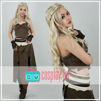 Daenerys Costume Brown Cosplay Halloween 1