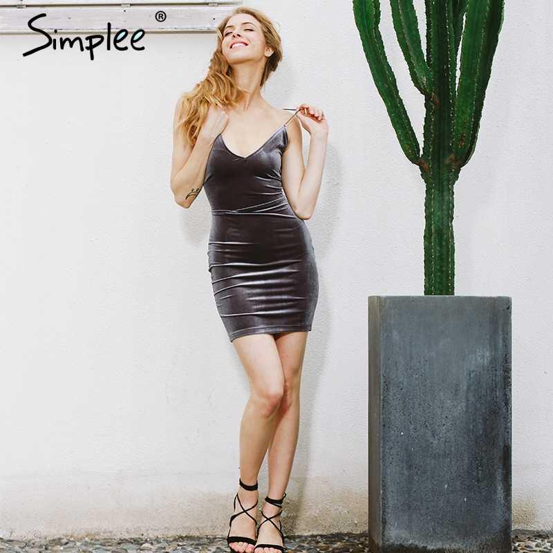 Simplee zasznurować aksamitne vintage kobiety sukienka krótki bez pleców party sexy sukienka retro midi sukienka ołówek skater obcisła sukienka wieczór