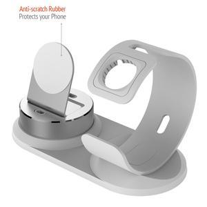 Image 4 - 4 in 1 DIY masa Apple için şarj Dock standı standı masa şarj telefon tutucu istasyonu iPhone X/8P/7/6/SE şarj Airpods için