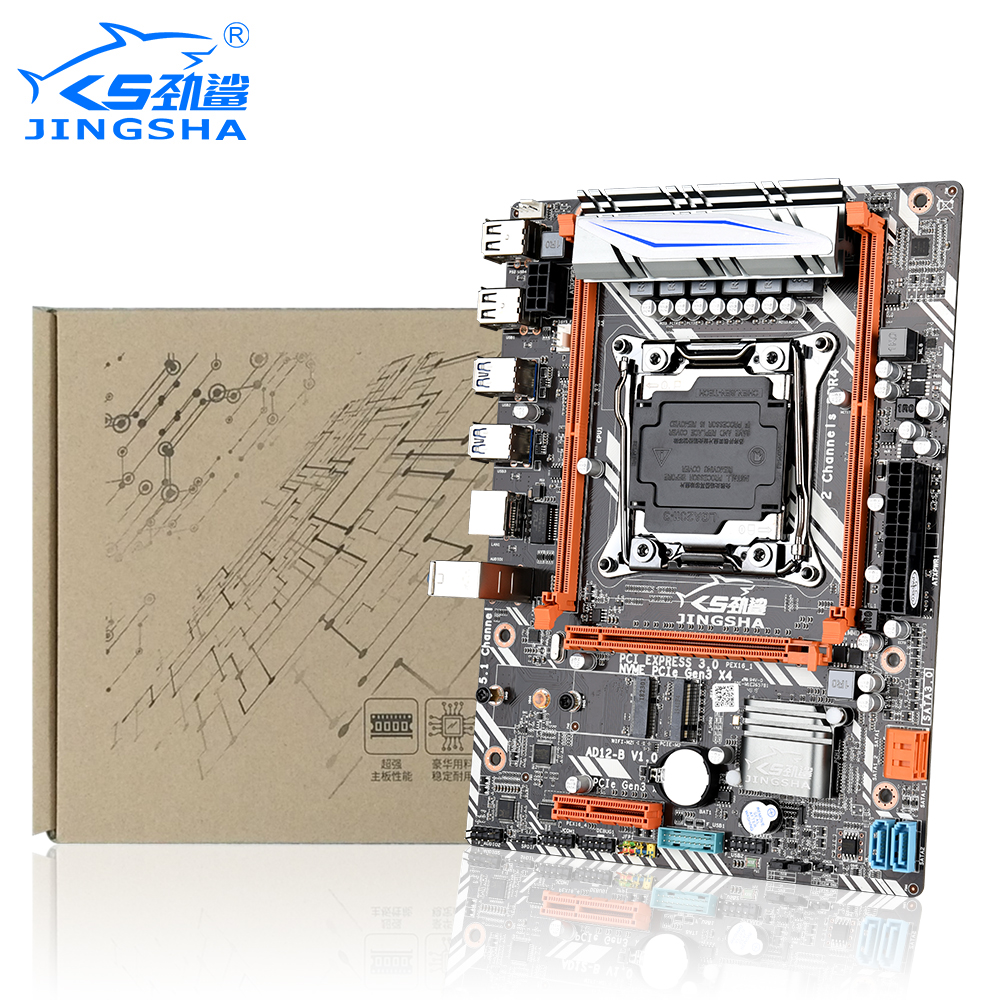 JINGSHA X99D4 Motherboard Supports XEON E5 LGA 2011V3 Processor And 2 * DDR4 Desktop / ECC REG Memory With Wifi Function