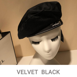 Image 5 - 2019 Autumn Winter Woman Hat Fashion Ribbon Bow Beret Letter Embroidery Winter Hats Vintage Male Beret French Hat Navy Cap