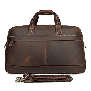 Image 4 - MAHEU עור Weekender תיק לגבר בציר פרה עור נסיעות מזוודות תיק עור crossbody כתף תיק נסיעה תיק