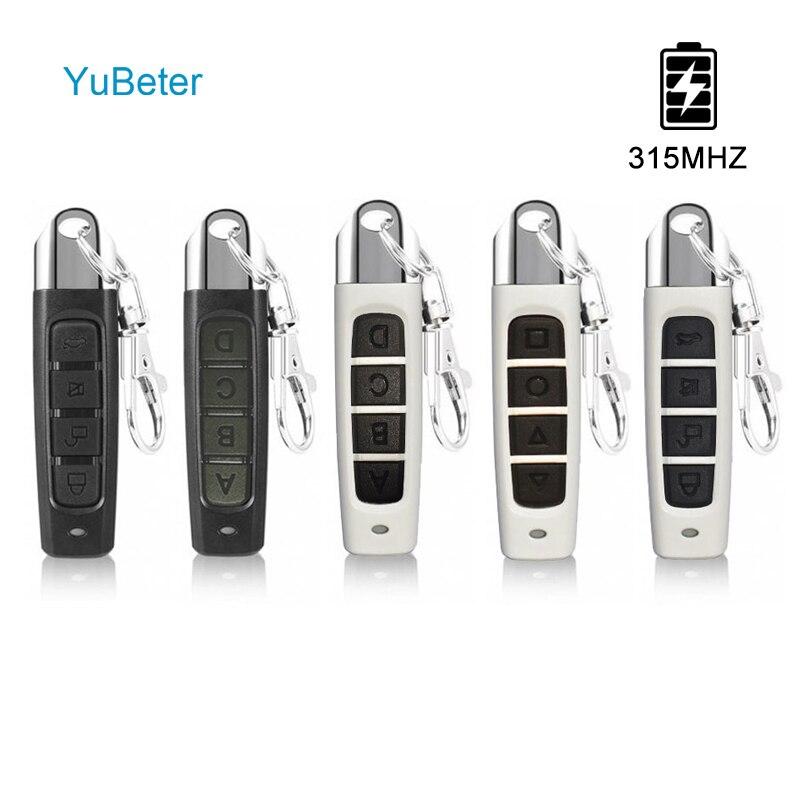 YuBeter 315MHZ Drahtlose Fernbedienung Klonen Duplizierer ABCD 4 Taste Garage Tor Türöffner Elektrische Kopie Controller Auto Schlüssel