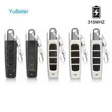Yubeter 315mhz de controle remoto sem fio clonagem duplicador abcd 4 botão portão da garagem abridor porta controlador cópia elétrica chave do carro