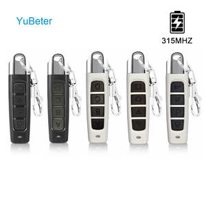 YuBeter 315MHZ Wireless Remote Control Cloning Duplicator ABCD 4 Button Garage Gate Door Opener Electric Copy Controller Car Key