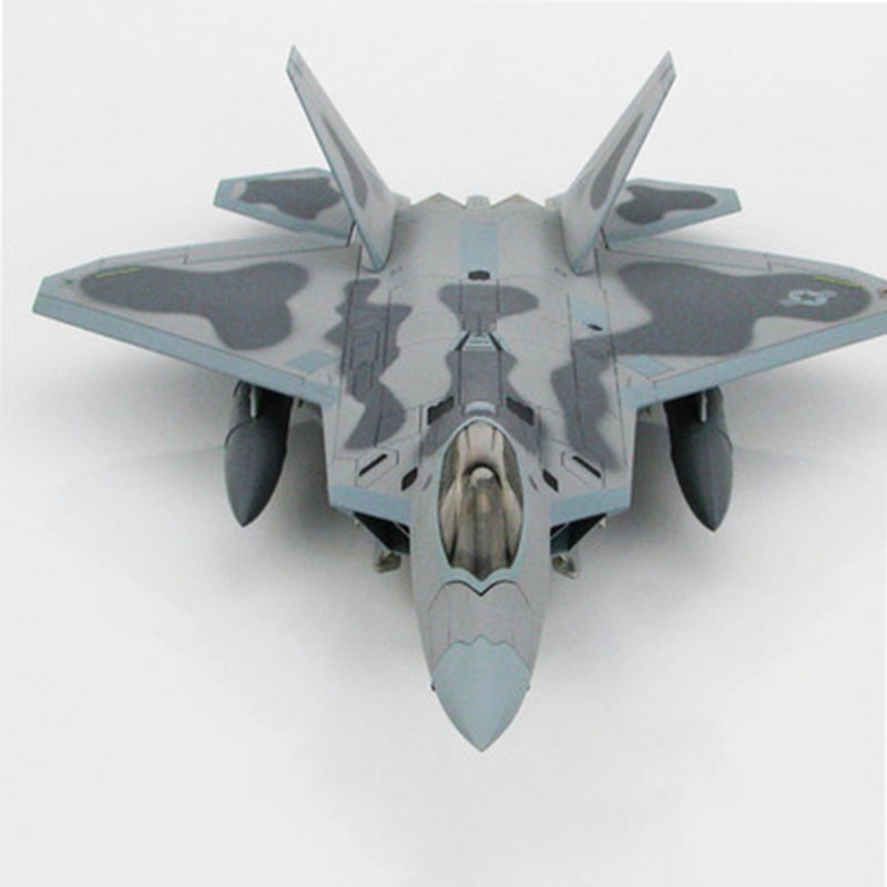 1/72 Scale US Military F-22 Raptor Fighter Aircraft Alloy Model FOV Out Of Print 85082 Military Simulation Model Child Toy Gift