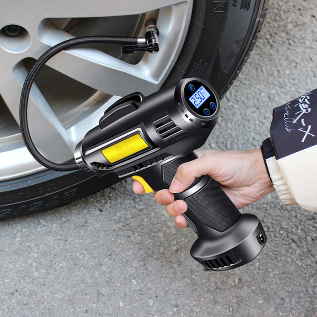 Car Air Compressor Portable Electric Car Tire Inflator Pump Wireless Electric Air Pump For Car Bike Motorcycle Boat Bicycle Pump 2