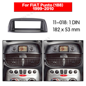 Car multimedia Player frame For FIAT Punto (188) 1999-2010 1DIN Audio Panel Mount Installation Dash Frame Adapter car DVD fascia image