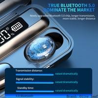 2200mAh 5.0 TWS wireless headphones bluetooth earphone headphones sport headset with microphone