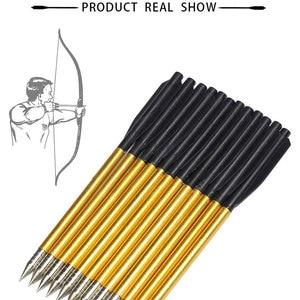 "Image 5 - 60pcs/Pack Shooting Arrows Outdoor Hunting Aluminum Bolt Arrow 6.5"" Length Arrow Archery for 50lb/80lb Crossbow Accurate Arrow"