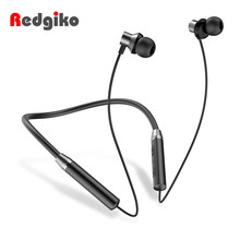 Redgiko Magnetic Wireless Bluetooth Earphone Stereo Wireless in-ear Headset Sports Waterproof Earbuds For Samsung(China)