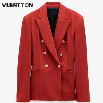 Spring Autumn Red OL Work Office Blazer Coat Women Chic Button Solid Suit Jackets Female Outerwear Tops Elegant Blazers Feminino button through solid outerwear