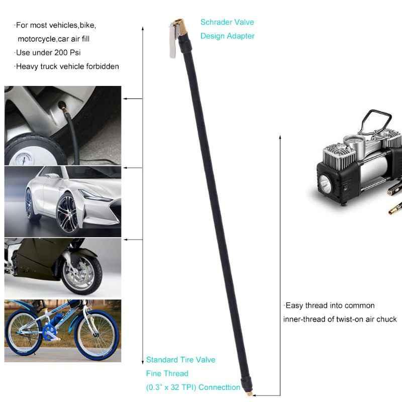 Uniwersalny elastyczny zawór do opony rozszerzenie Adapter rurowy do sprężarki powietrza pompka do opon dla samochodów motocykl motor