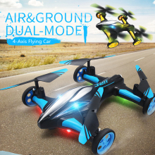 2.4G RC Drone Air-Ground Flying Car H23 Quadcopter with light One-key Return Remote Control Drones Model Helicopter Best Toys