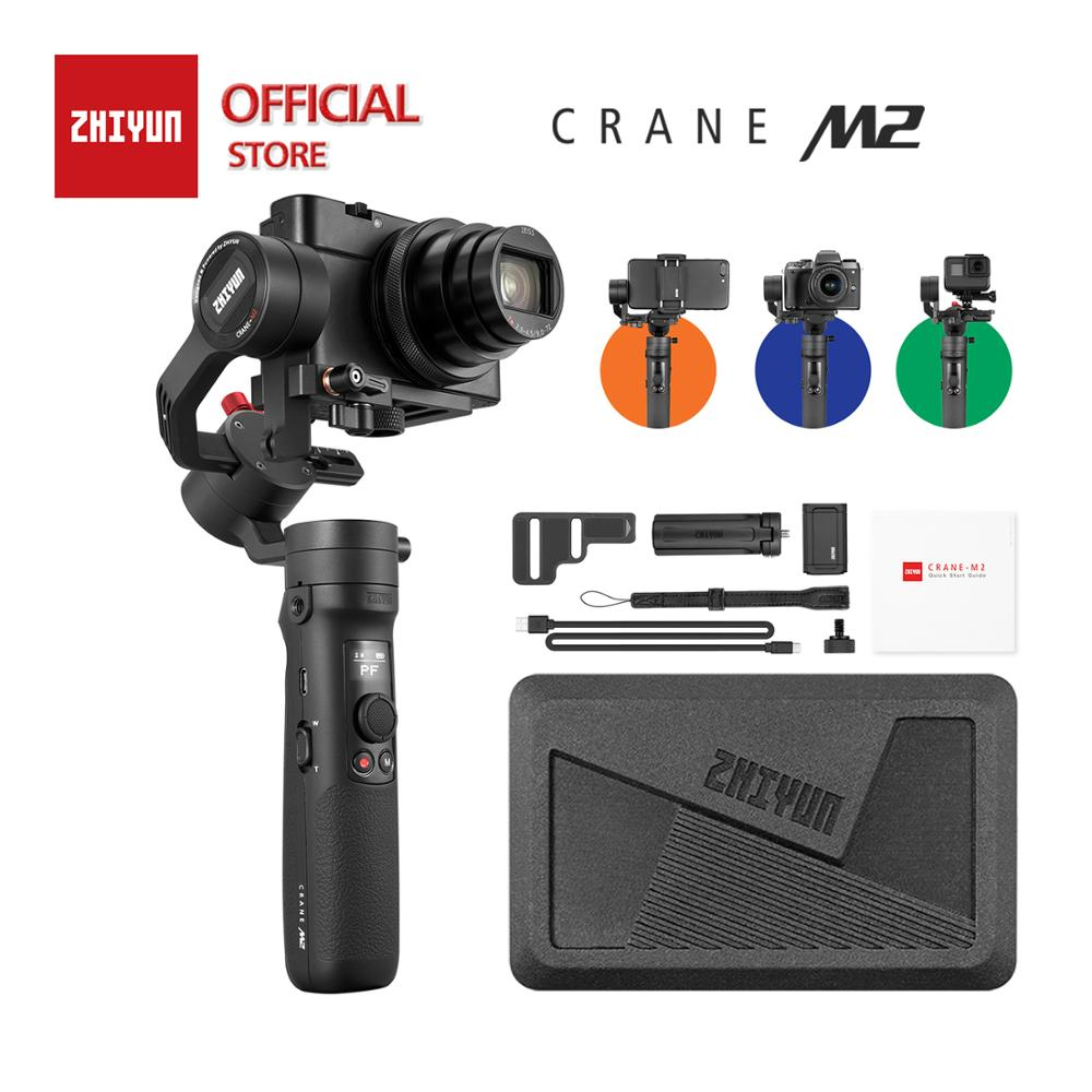 ZHIYUN Official Crane M2 3-Axis Gimbals for  Action Mirrorless  Compact Cameras Smartphones New Arrival Stabilizer In Stock old school motorcycle gauges