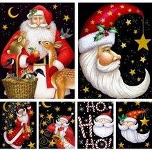 Diy 5d алмазная Картина милый Санта Клаус Рождественский подарок