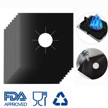 4pcs  Gas Stove Anti-fouling Mat Top Protection Clean High Temperature Resistance