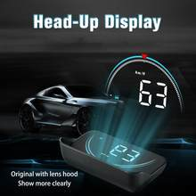 M8 автомобиля HUD Дисплей OBD2 II EUOBD превышение скорости Предупреждение Системы проектор лобовое стекло авто электронный бортовой компьютер Но...